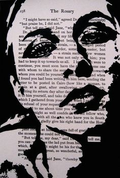 This is a black and white print of an original John Clark. The words tell me, links in the background text are uncovered. It is… Backgrounds : This is a black and white print of an original John Clark. The words tell me, links in the background text are Middle School Art, Art School, Classe D'art, 7th Grade Art, High School Art Projects, Stencil Art, Stencils, Art Lesson Plans, Art Classroom