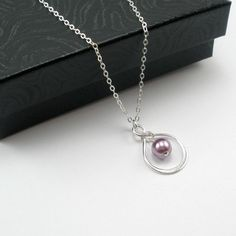 Sterling Silver Infinity Bridesmaid Necklace by StarringYouJewelry, $132