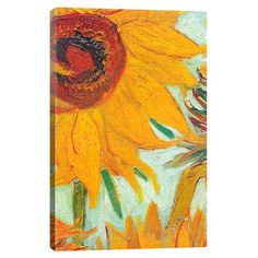 Add gallery-worthy appeal to your walls with this canvas print of Vincent van Gogh's Twelve Sunflowers. Display it alone as an artful focal point or g...