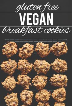 Gluten Free Vegan Breakfast Cookies.  Some of the ingredients sound a little hard to find, but decent for a cookie.