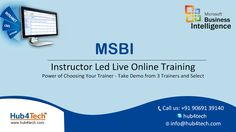 Learn MSBI online from Hub4Tech and master your skill in MSBI concepts like ETL, SSIS, SSAS and SSRS using SQL Server 2014 and SQL Server Data tools 2013 and earn an MSBI certification
