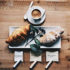Coffee is always good idea | sharetocometrue | croissant