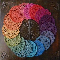 Lovely, colorful crochet. Inspiration