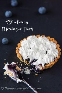 Blueberry Meringue Tarts recipe | via www.deliciouseveryday.com