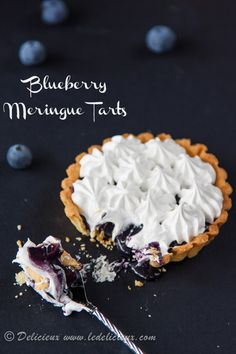 Blueberry Meringue Tarts recipe | via www.deliciouseveryday.com
