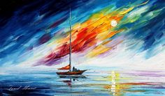 EXPCTATION Original Oil Painting On Canvas By Leonid Afremov