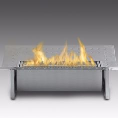 Eco-Feu Insert - Ethanol Insert for Fireplace - Stainless Steel (FS-00115-SS)