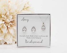Will you be my Bridesmaid Proposal Gift, Tear Drop Earrings for Bridesmaids, Jewelry Sets for Bridesmaid, Bridesmaid Gifts PD Bridesmaid Tips, Bridesmaid Jewelry, Bridesmaids, Brides Maid Proposal, Bridesmaid Proposal Gifts, Best Bridal Shower Gift, Will You Be My Bridesmaid Gifts, Bridal Party Jewelry, Necklace For Girlfriend