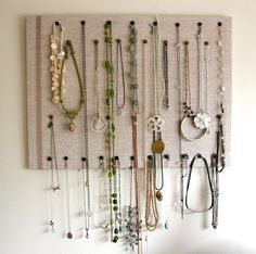 Bulletin board for jewelry.