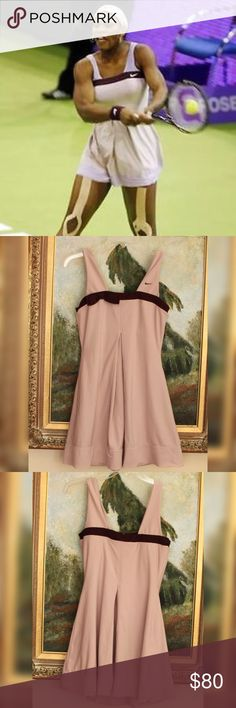 Rare Nike Purple Mauve Serena Tennis Dress THE NIKE SERENA WILLIAMS *BEST ATHLETE/TENNIS PLAYER OF ALL TIME* SUPER RARE BOW DRESS: COMFORT AND STYLE, MADE TO MOVE, WORN TWICE, NICE! IMPOSSIBLE TO FIND STYLE, GORGEOUS DUSTY PINKISH PURPLE/ROSE SHADE WITH DEEP PLUM ACCENT.  SHE WORE TWO COLORS IN THIS STYLE, THIS AUCTION IS FOR THE LIGHTER SHADE Nike Dresses