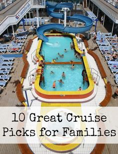 Looking for a fun-filled family cruise option? Take a look at the 10 best cruises for families. Have fun! Best Cruises For Kids, Best Family Cruises, Family Friendly Cruises, Best Family Cruise Ships, Packing For A Cruise, Cruise Travel, Cruise Vacation, Vacation Ideas, Cruise Tips
