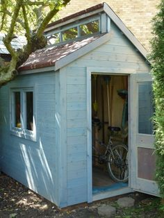 Posh bike storage shed