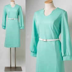 Mod Dress Vintage Mint Green Dress Vintage by TrendyHipBuysVintage