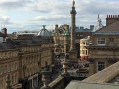 Theatre royal rooftop looking onto Greys Monument, Newcastle Upon Tyne