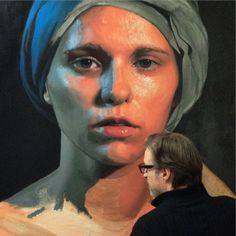 Dirk Dzimirsky -  January 21, 2015 - Working on a rough underpainting. — with Adina Tulai.