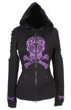 SUGAR SKULL HOODIE ~ I soooo love this! Someone buy it for me!
