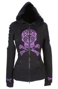 SUGAR SKULL HOODIE ~ I soooo love this! Someone buy it for me! Skull 4f66fd879888f