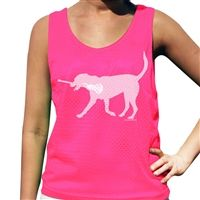 Lexi the LAX Dog Lacrosse Pinnie - Our 100% Polyester mesh pinnies are the top choice for comfort and performance. This reversible pinnie is moisture wicking and anti-microbial keeping you dry, odor free and comfortable.