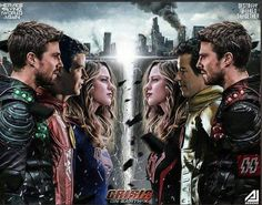 ( Crisis On Earth-X ⚡Best Crossover Ever Superhero Shows, Superhero Memes, Dc Tv Shows, The Cw Shows, Supergirl Dc, Supergirl And Flash, Best Crossover, The Flash Grant Gustin, Cw Dc