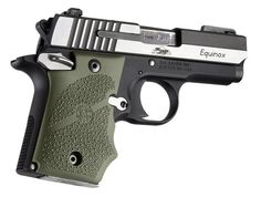 SIG Sauer P938 Ambi Safety Rubber Grip with Finger Grooves OD Green | Hogue Inc.