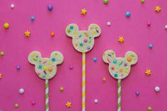 Mickey-Shaped Sugar Cookie Confetti Fudge | Disney Family
