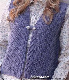 baliksirti-spor-yelek- (499x577, 228Kb) Cable Knitting, Knitting Stitches, Knitting Designs, Knitting Projects, Cardigan Pattern, Knit Cardigan, Knit Crochet, Knitting Patterns, Free Pattern