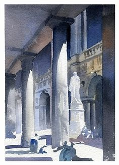 vicenza 2 by Thomas W. Schaller Watercolor ~ 11 inches x inches Watercolor City, Watercolor Sketch, Watercolor Artists, Watercolor Techniques, Watercolor Landscape, Watercolor Paintings, Watercolors, Watercolor Architecture, Art And Architecture