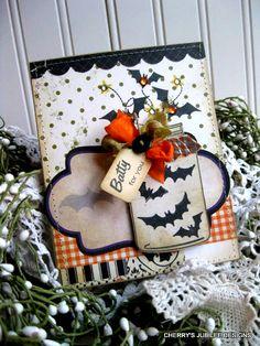 halloween card and mason jar idea