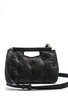 8bb44f01190d Faux Leather Cushioned Shoulder Bag | Forever 21 Leather Shoulder Bag,  Shoulder Strap, Womens