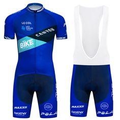 Men Team Cycling Blue Bike Jerseys Short Sleeve Bib Shorts Kits Racing  Shirt Pad  DKGEMN 42f650b2f