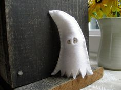 Ghost peg doll by LittleWool on Etsy, $15.00
