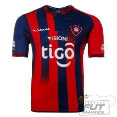 Camisa Diadora Cerro Porteño Home 2014 Time Do Brasil, Football Kits, Soccer, Shirts, Tops, Fashion, Sports Clubs, Soccer Shirts, Blue Shirts