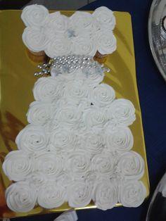 Vestido de cupcakes para el bautizmo de mi niña Tamia