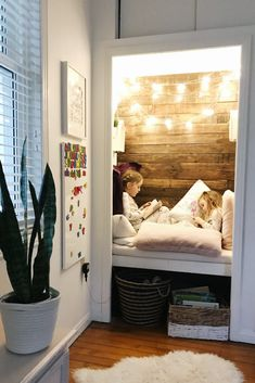 Create a cozy reading nook your kids will enjoy for years to come. A cozy place to curl up, surrounded by pillows, blankets and your favourite books. Reading Nook Closet, Closet Nook, Bedroom Reading Nooks, Reading Nook Kids, Bedroom Nook, Bedroom Corner, Kid Closet, Kids Bedroom, Book Corner Ideas Bedroom