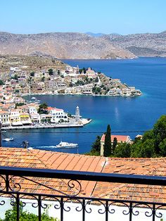 Balcony in Symi , Greece #travel #awesome #places +++Visit http://www.hot-lyts.com/ to see more great images