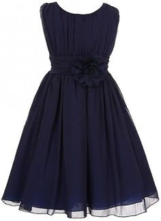Elegant Wrinkled Chiffon Summer Flower Dress  A chiffon wrinkled dress with pleated bodice, in a very affordable price!