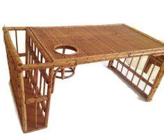 Vintage Bamboo Lap Tray-Breakfast Tray-Bed by MerrilyVerilyVintage