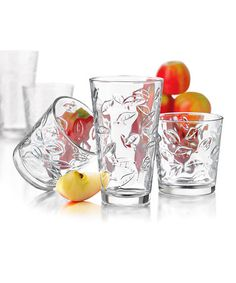 This Leaves Glass Set by Libbey is perfect! #zulilyfinds.  These are my favorite glasses.  Someday iamb going to break down and buy them!
