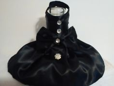Sassy Black Satin Elegance W/Hairbow & 4 Decorative buttons by bellasfancywardrobe on Etsy https://www.etsy.com/listing/288343679/sassy-black-satin-elegance-whairbow-4