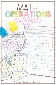 Are you looking to build your students' critical thinking skills or provide them with more enrichment during their math block? Look no further, as I have the thing for you! Check out this math center activity called Puzzlers! Upper Elementary Resources, Elementary Math, Math Resources, Critical Thinking Activities, Critical Thinking Skills, Teaching Writing, Teaching Tips, Math Fact Fluency, Math Blocks