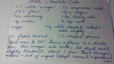 Grandma's Vintage Recipes: WHITE CHOCOLATE CAKE