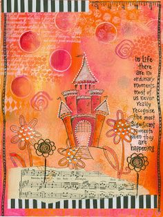 Art journal inspiration - castles The black and white really adds something