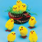 Aaaawwwww! 12 Mini fluffy chicks £1.44 from Baker Ross - up to 3.5% donation