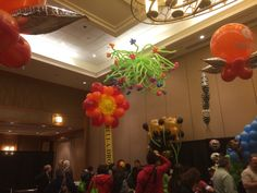 Ceiling balloon decor Balloon Decorations, Flower Power, Party Themes, Balloons, Ceiling, Flowers, Globes, Florals, Flower