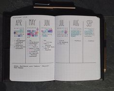 10 Yearly spreads and future logs for your bullet journal!