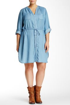 Chambray Dress (Plus Size) by Want & Need on @nordstrom_rack