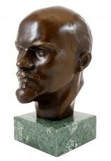 Bronze Statue - Vladimir Ilyich Lenin - on marble base - signed Bronze Sculpture, Euro, Art Decor, Sculptures, Marble, Military, Base, Statue, Signs