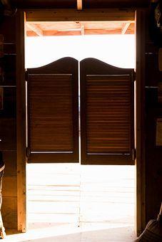 Saloon Doors Canvas Print / Canvas Art by Adam Burn - Bar Ideen Western Saloon, Western Style, Basement Doors, Garage Doors, Half Doors, Door Images, Swinging Doors, Front Door Design, Types Of Doors