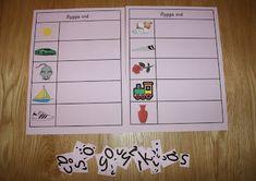 Montessorimaterial: Bygga ljudenliga ord med 3 bokstäver