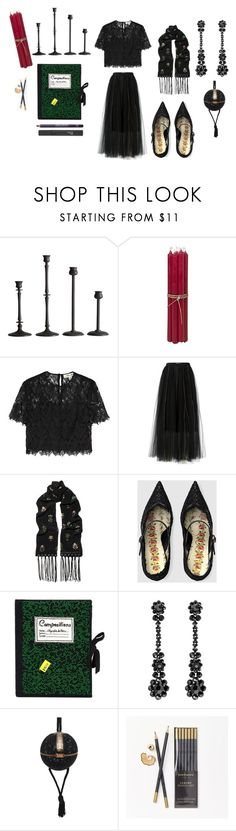 """She writes by candlelight"" by feralkind ❤ liked on Polyvore featuring Pottery Barn, Broste Copenhagen, Diane Von Furstenberg, Dorothee Schumacher, Alexander McQueen, Gucci, Olympia Le-Tan, Simone Rocha, Judith Leiber and Kate Sheridan"